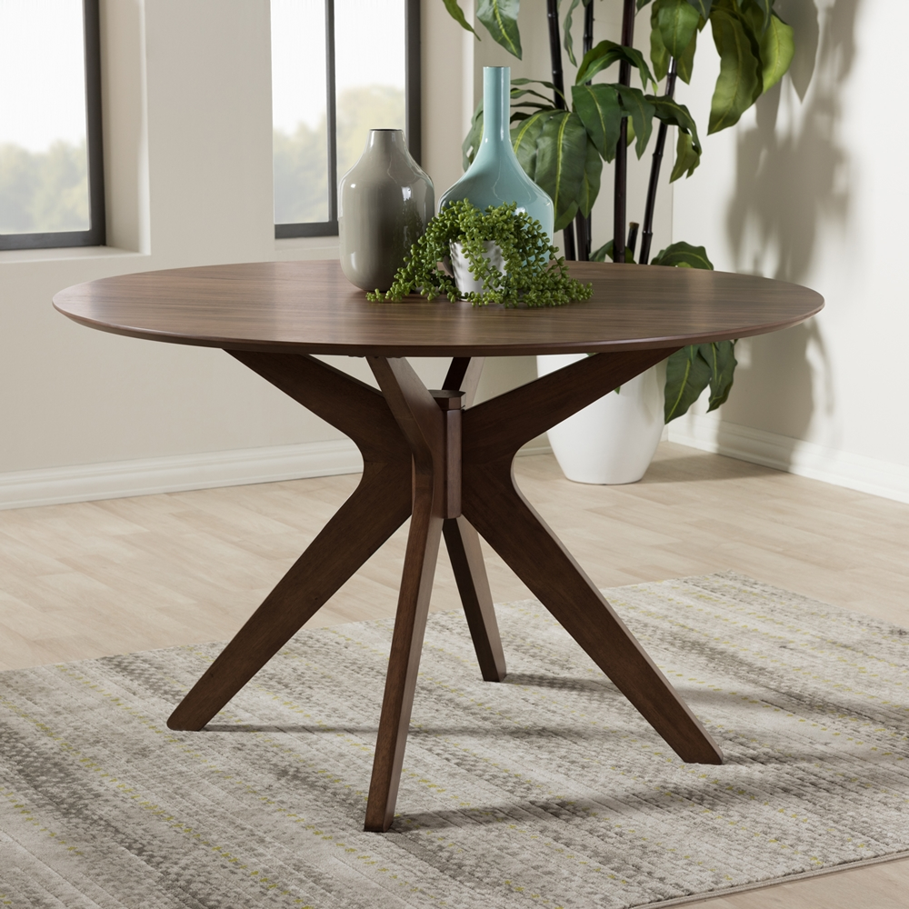 Reagan Walnut Wood Dining Table 4
