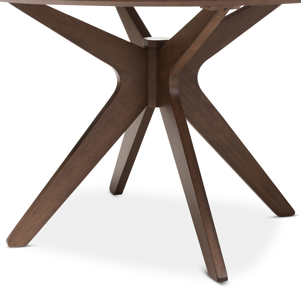 Reagan Walnut Wood Dining Table 5