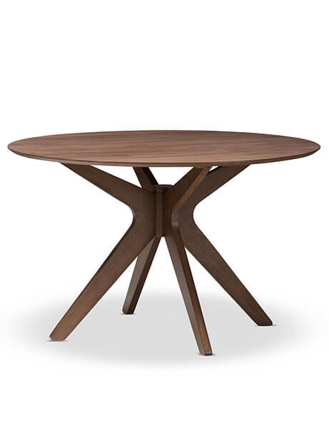 Reagan Walnut Wood Dining Table
