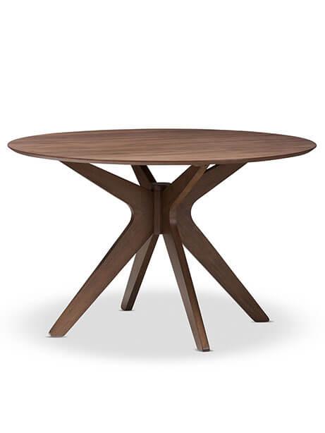 Reagan Walnut Wood Dining Table