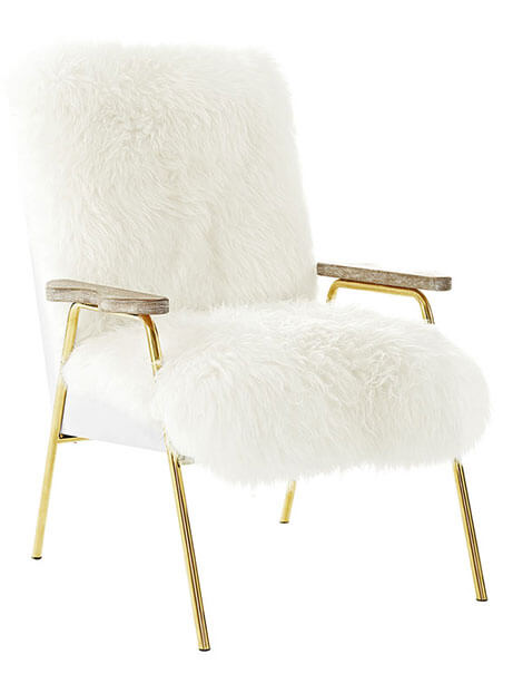 sheepskin lounge chair
