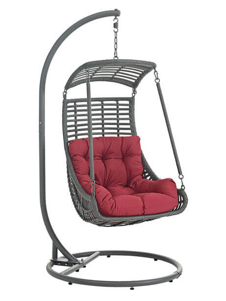 west nest swing chair red