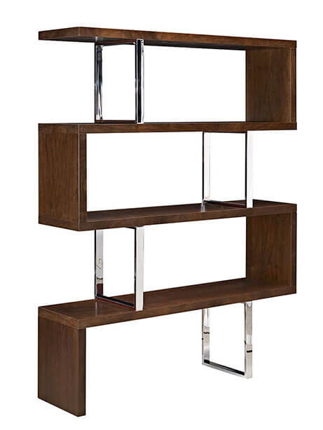 apogee shelving unit walnut wood