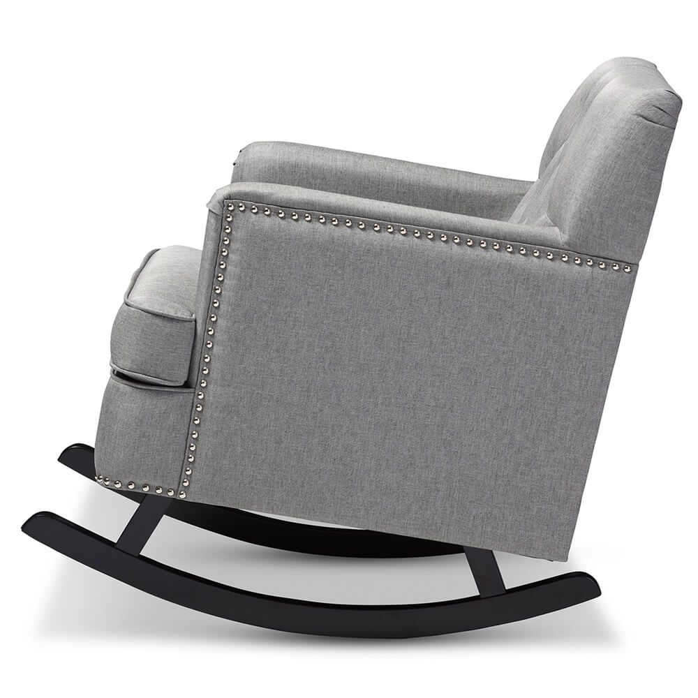deluxe plush rocking chair gray 3