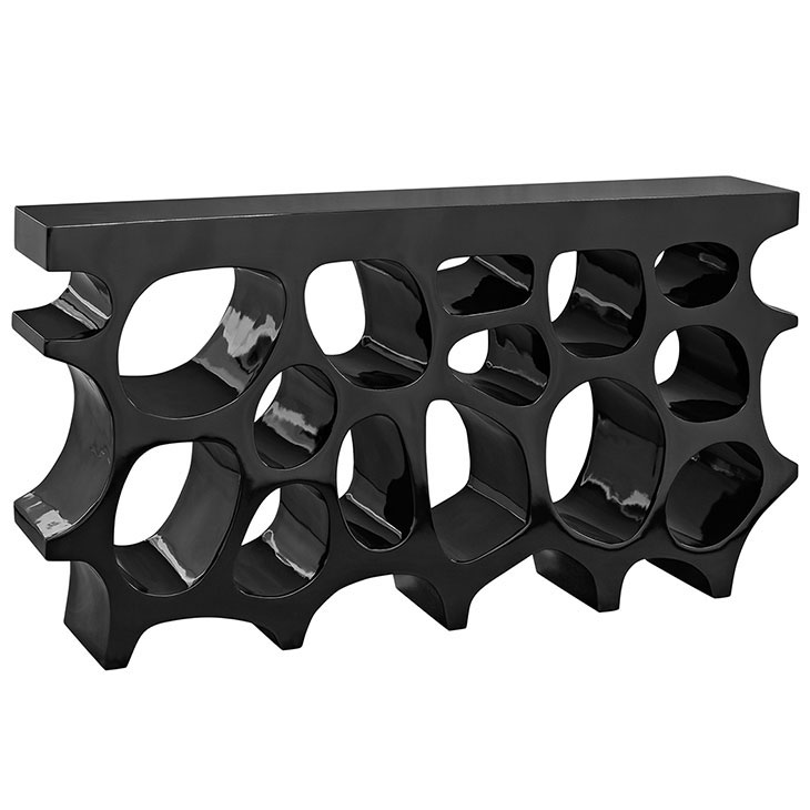 hive medium console table black 1