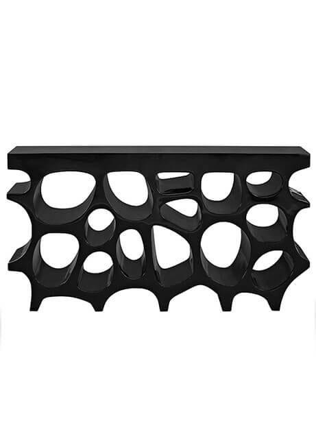 hive medium console table black