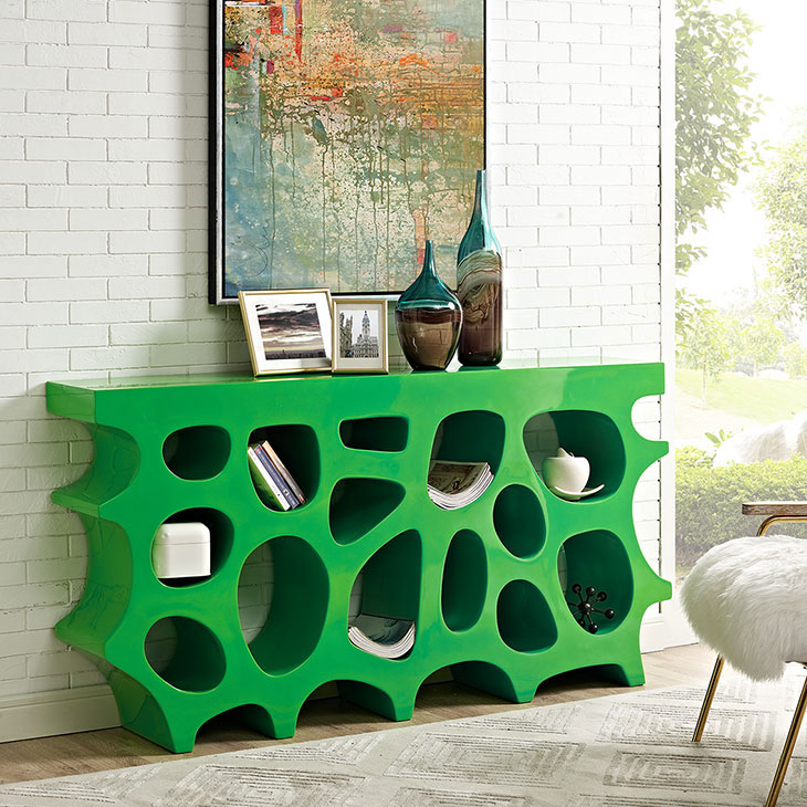 hive medium console table green 4