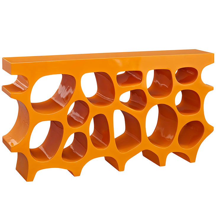 hive medium console table orange 1