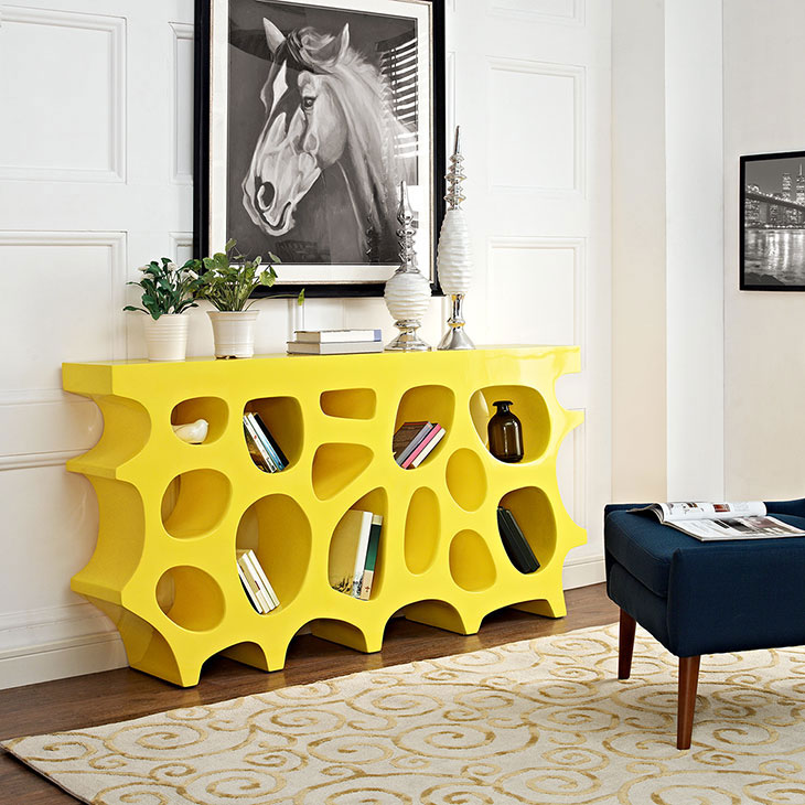 hive medium console table yellow 4