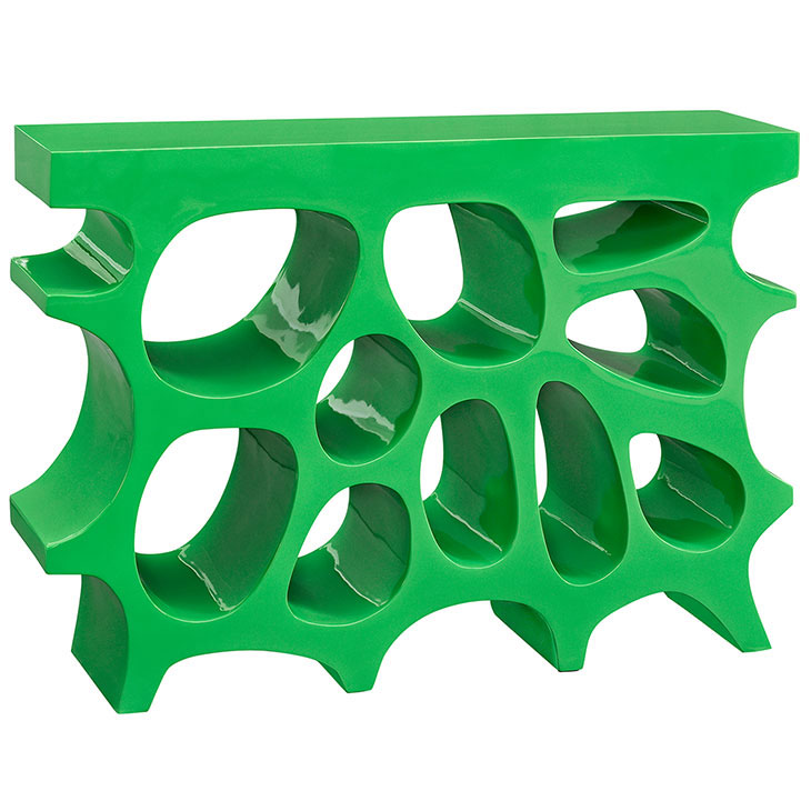 hive small console table green 1