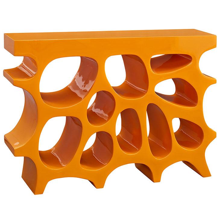 hive small console table orange 1