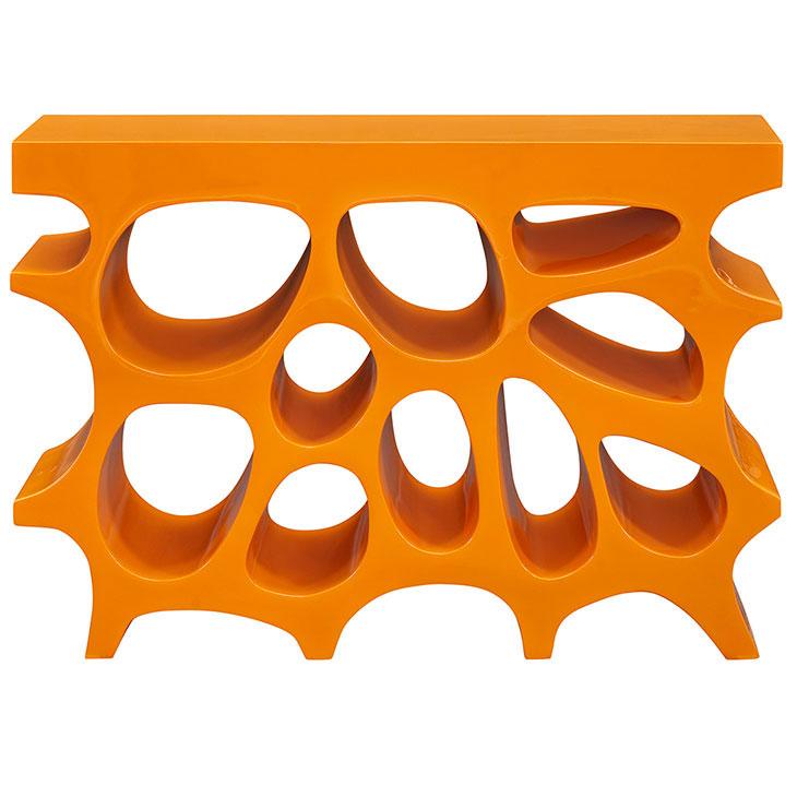 hive small console table orange 3