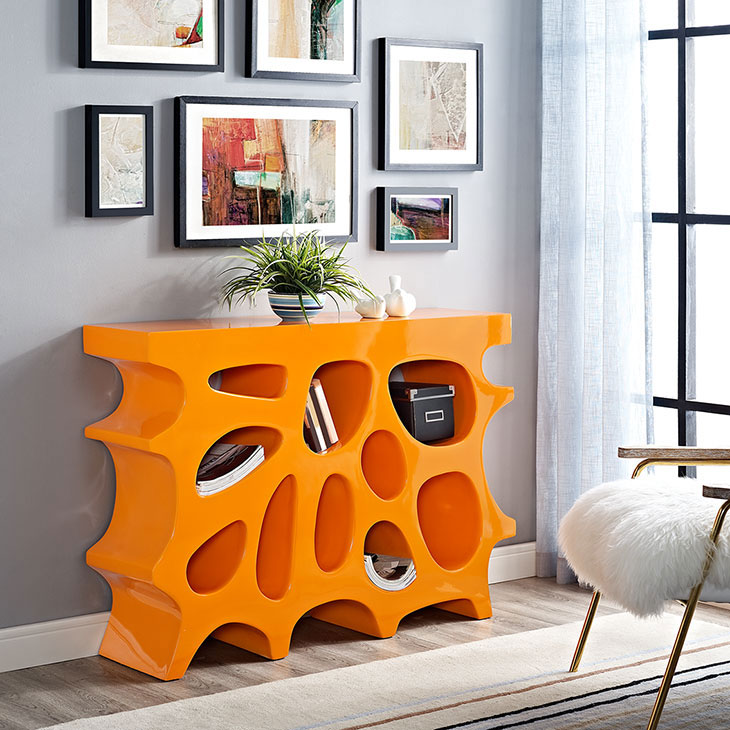 hive small console table orange 4
