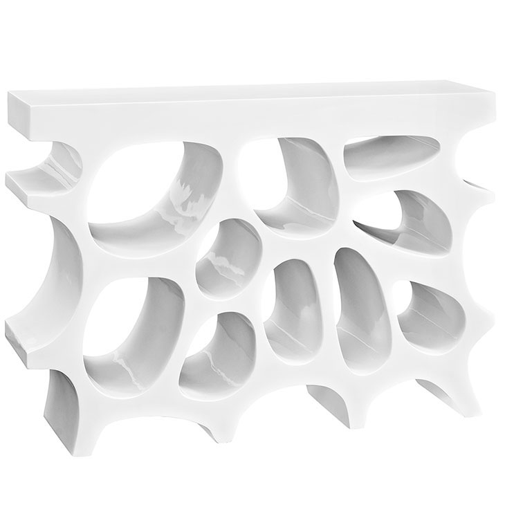hive small console table white 1