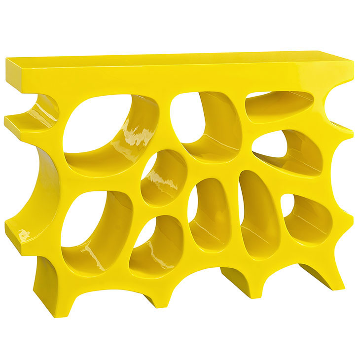 hive small console table yellow 1