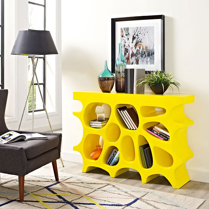 hive small console table yellow 4