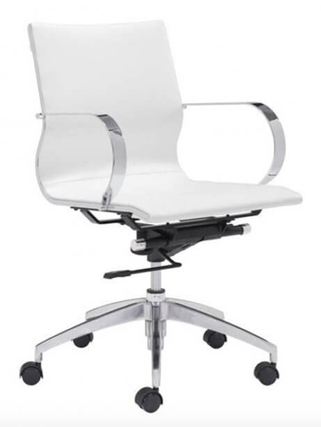 image mid back office chair white