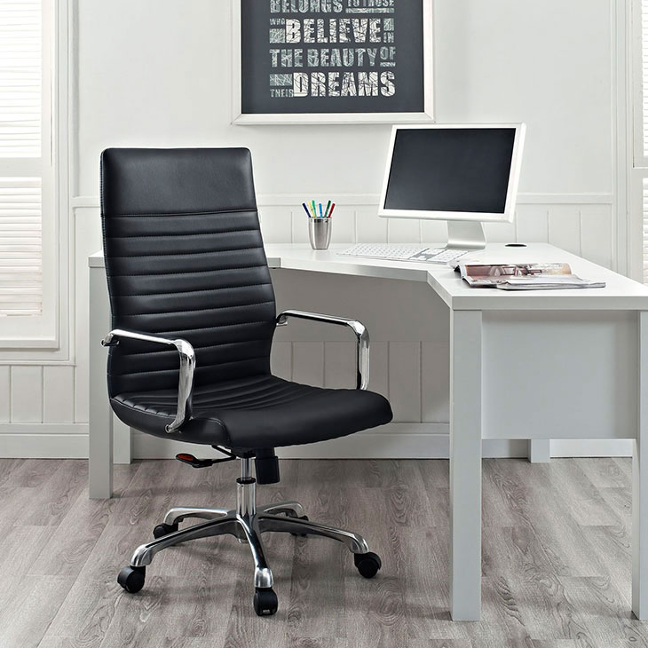 inspire high back office chair black 4