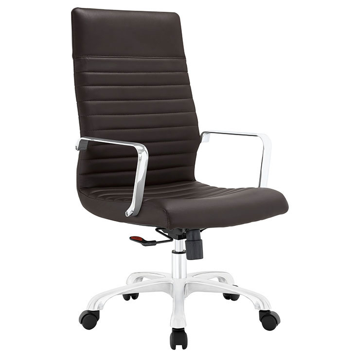 inspire high back office chair brown 1