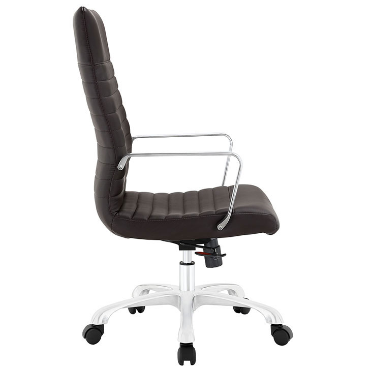 inspire high back office chair brown 2