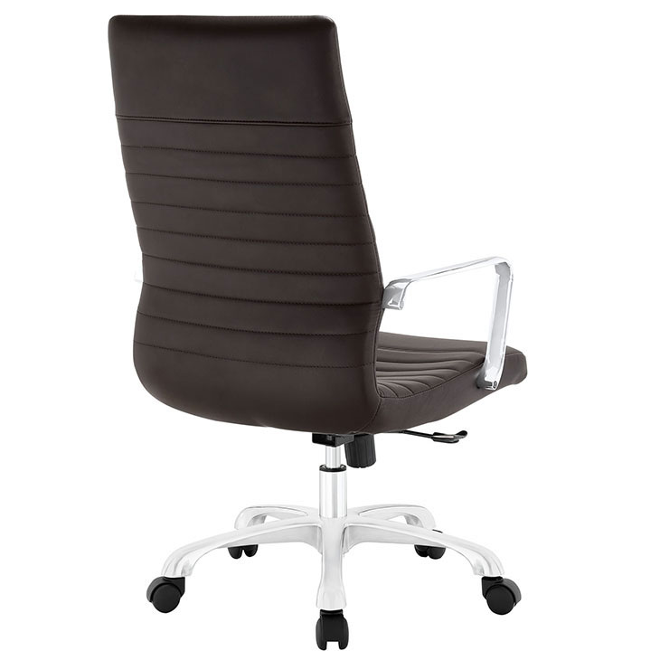 inspire high back office chair brown 3