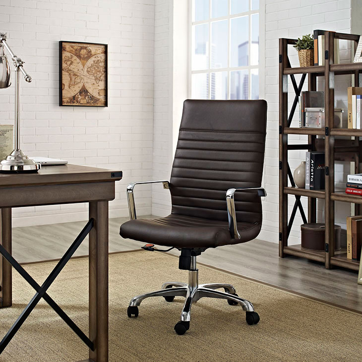 inspire high back office chair brown 4