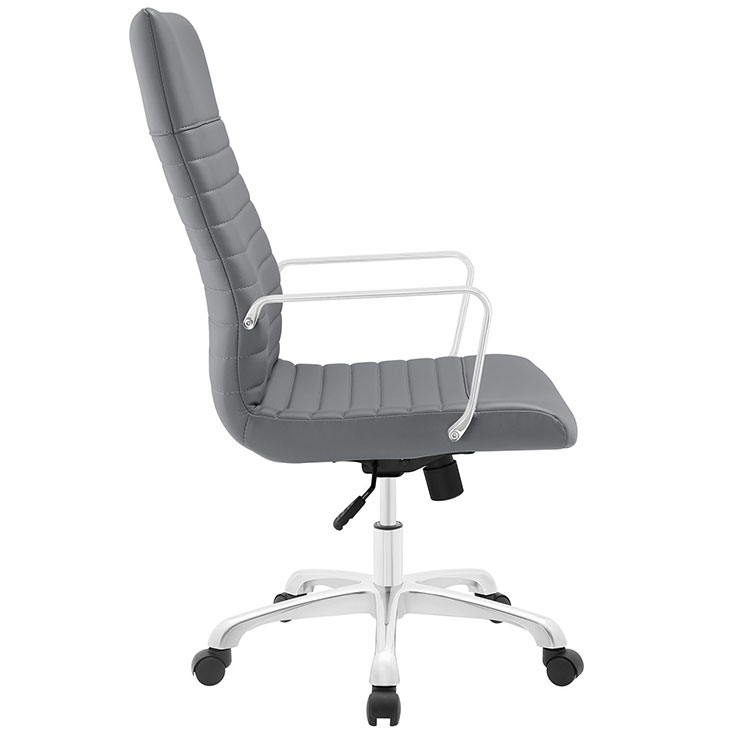 inspire high back office chair gray 2