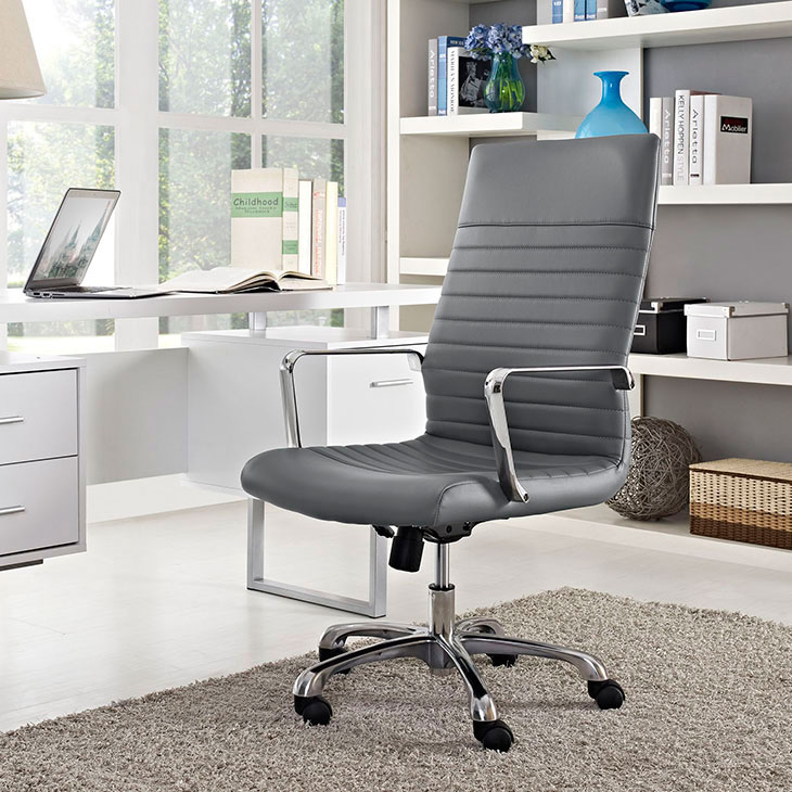 inspire high back office chair gray 4