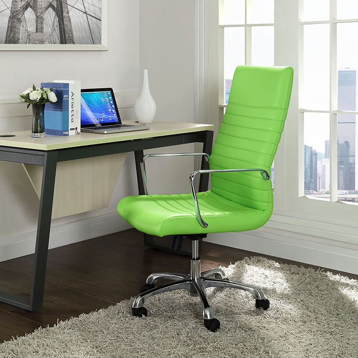 inspire high back office chair green 4