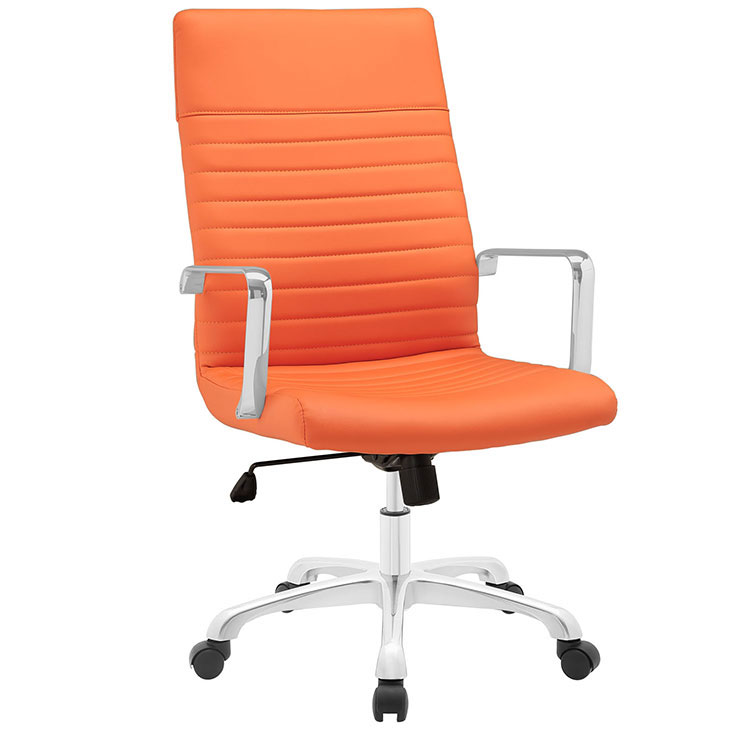 inspire high back office chair orange 1