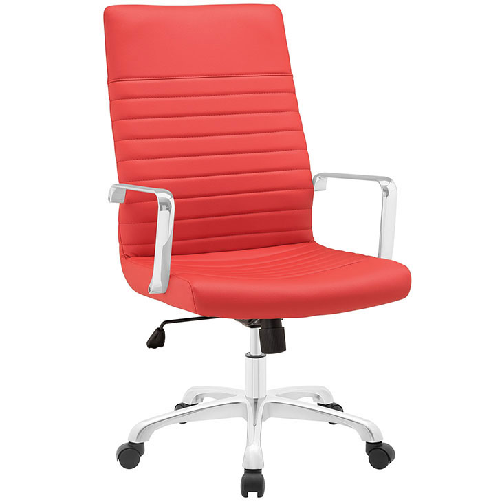 inspire high back office chair red 1