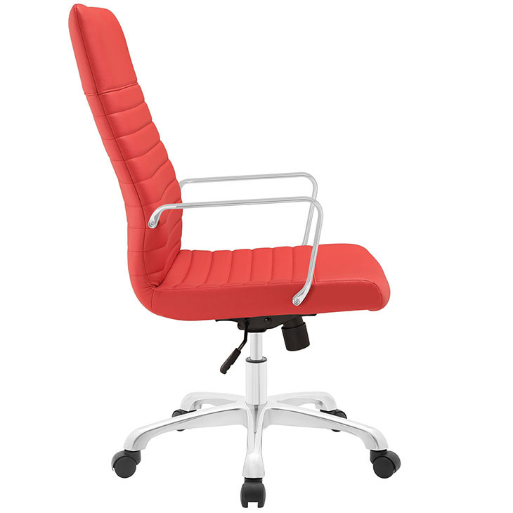 inspire high back office chair red 2