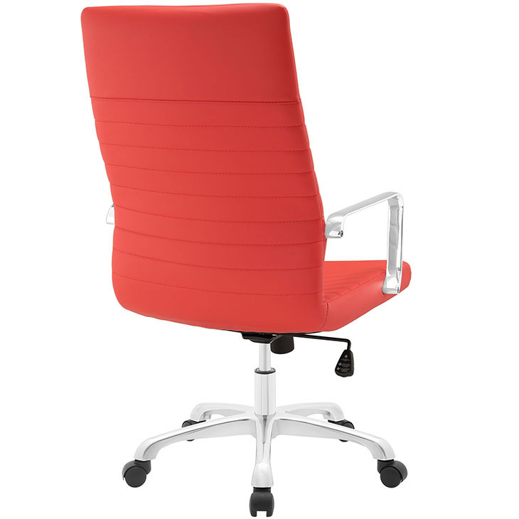 inspire high back office chair red 3