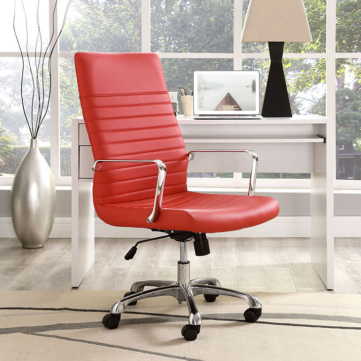 inspire high back office chair red 4