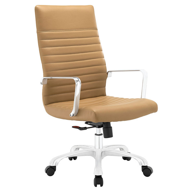 inspire high back office chair tan 1