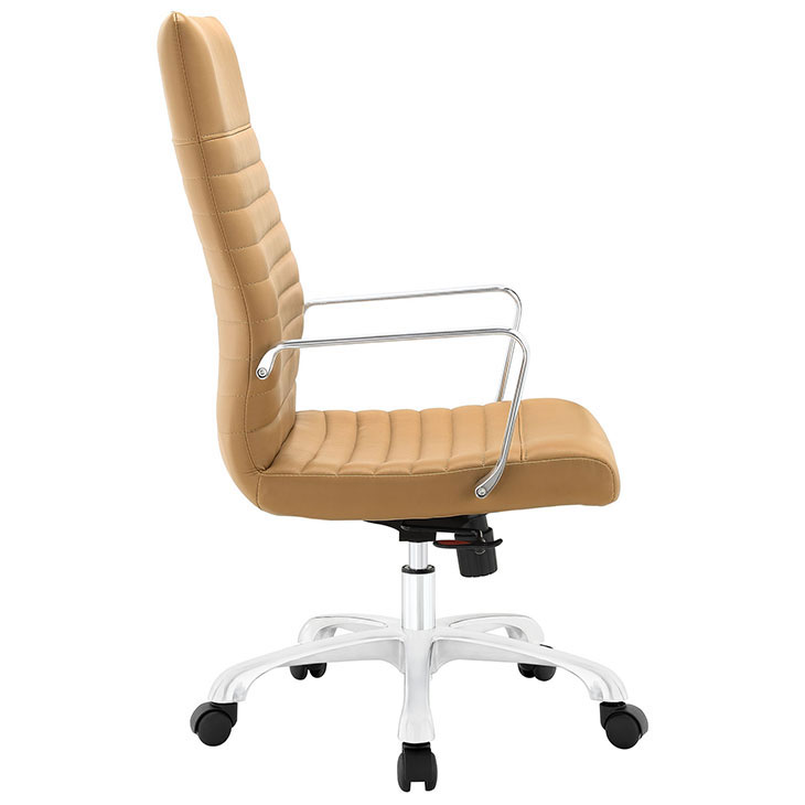 inspire high back office chair tan 2