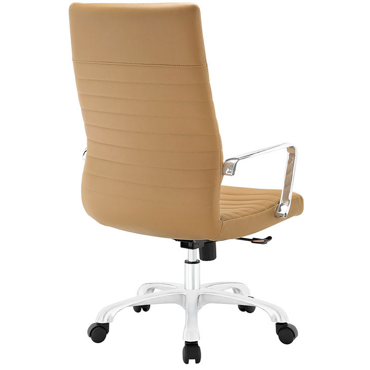 inspire high back office chair tan 3