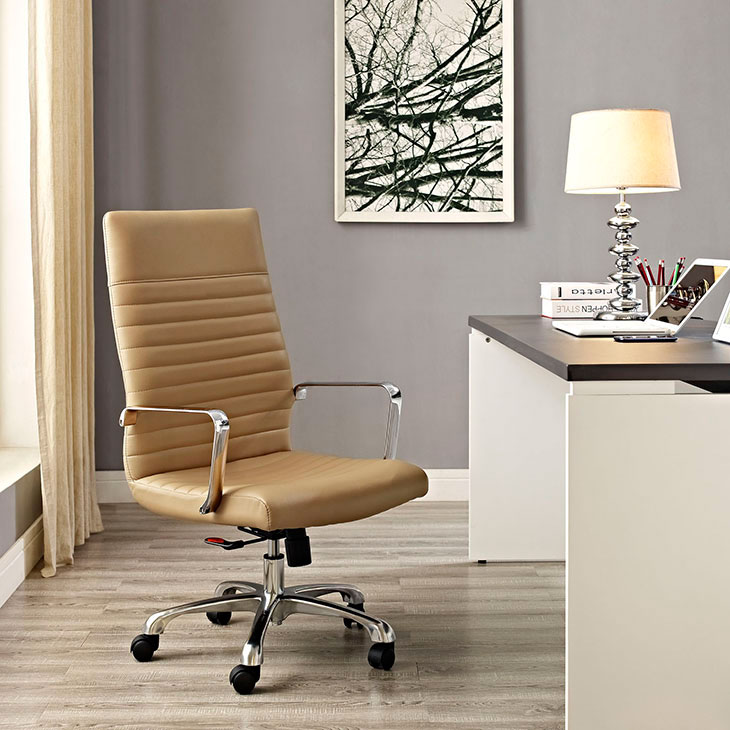 inspire high back office chair tan 4