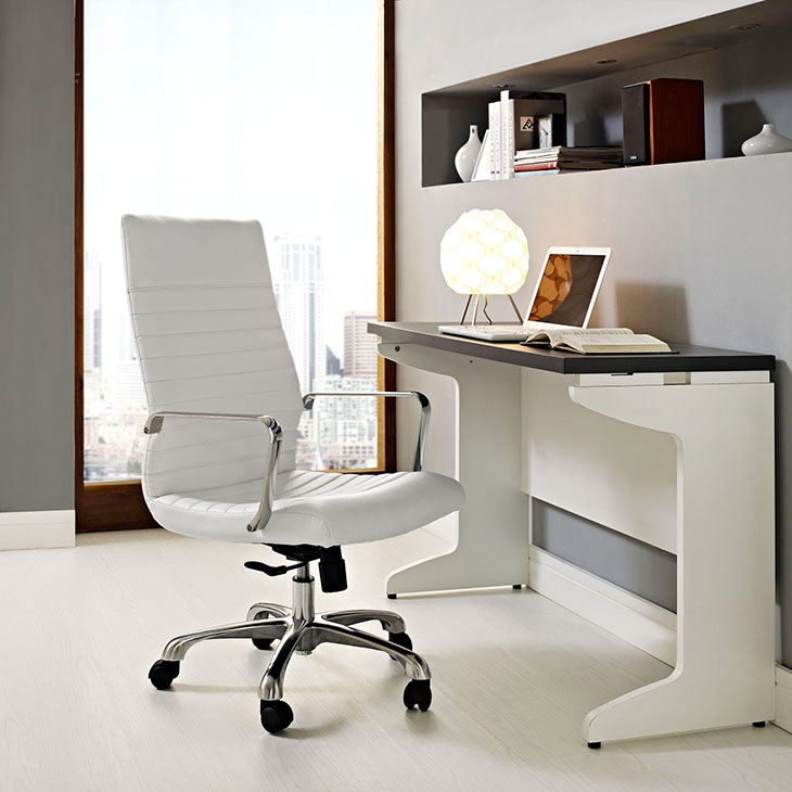 inspire high back office chair white 3