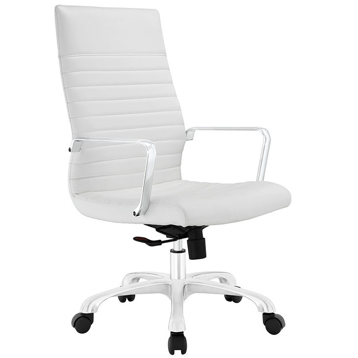 inspire high back office chair white