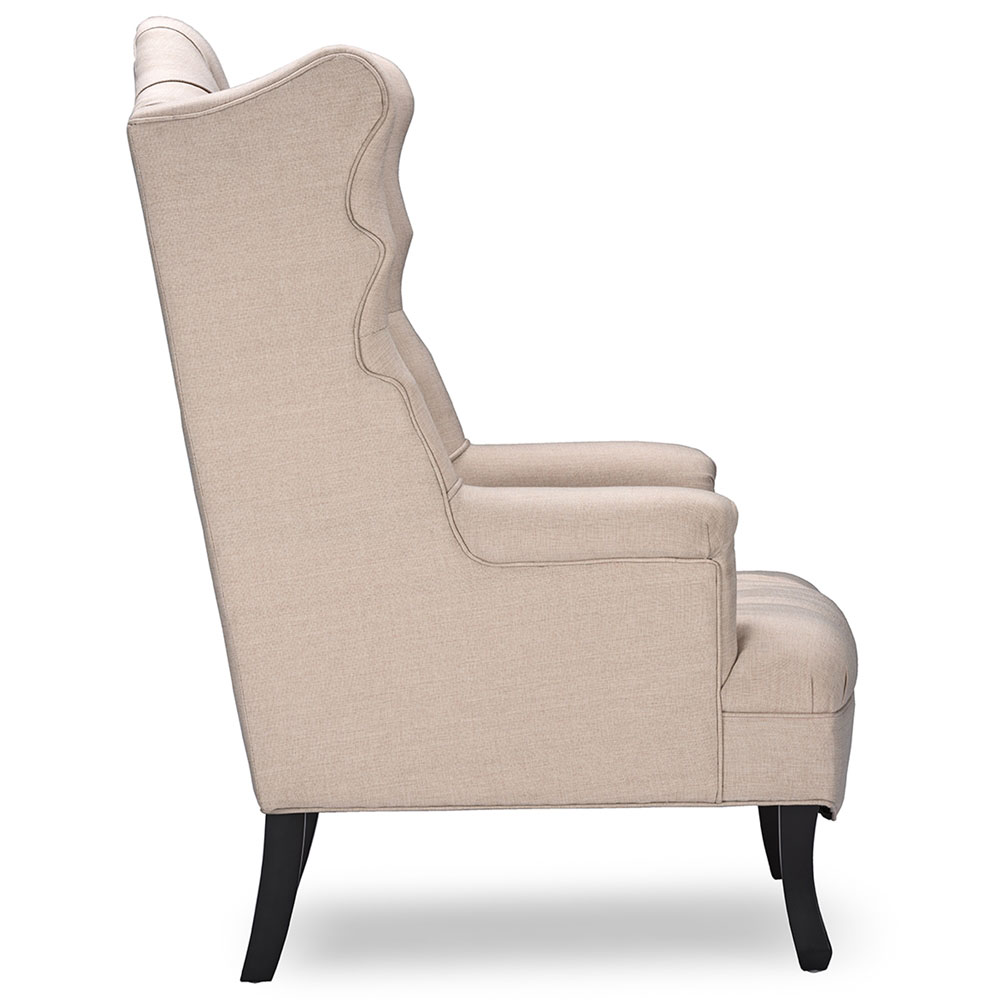 queen sofa armchair beige 2