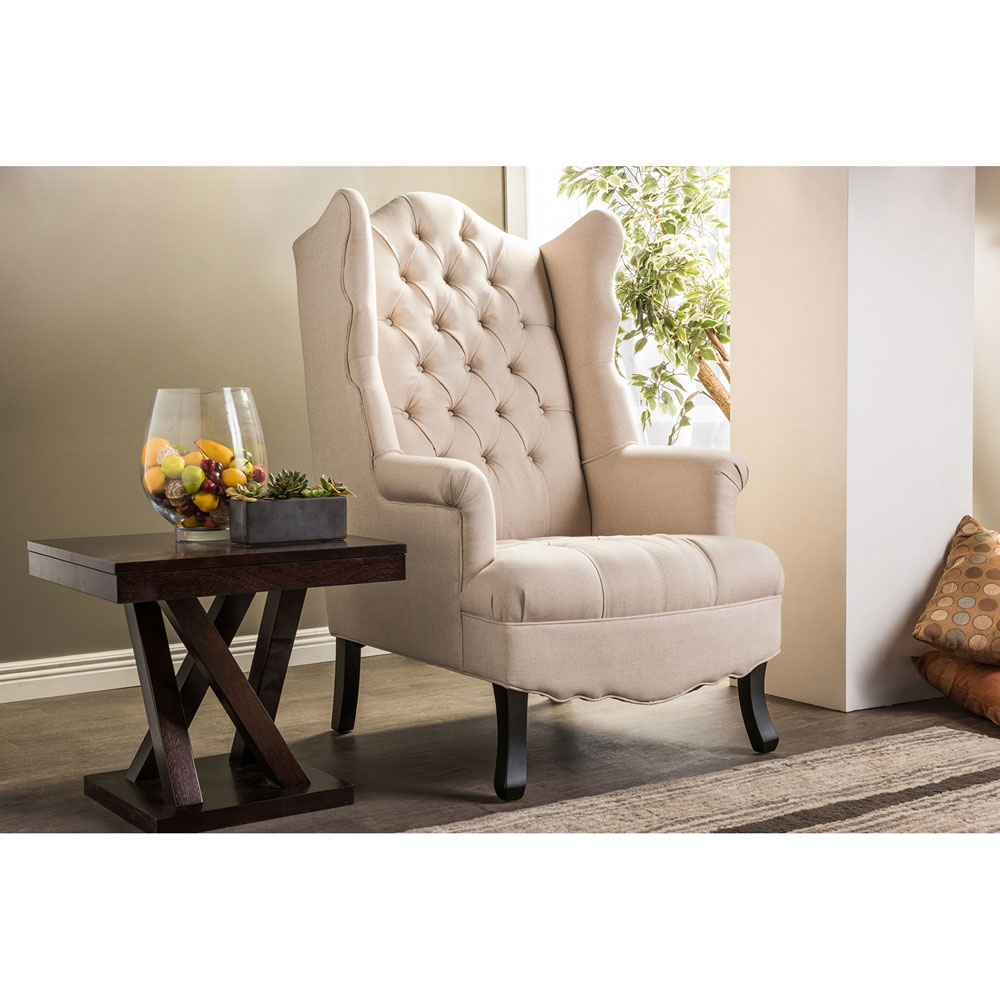 queen sofa armchair beige 5