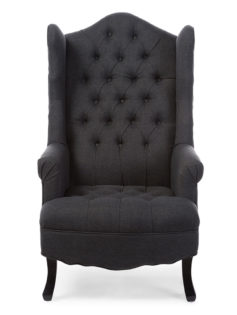queen sofa armchair dark gray