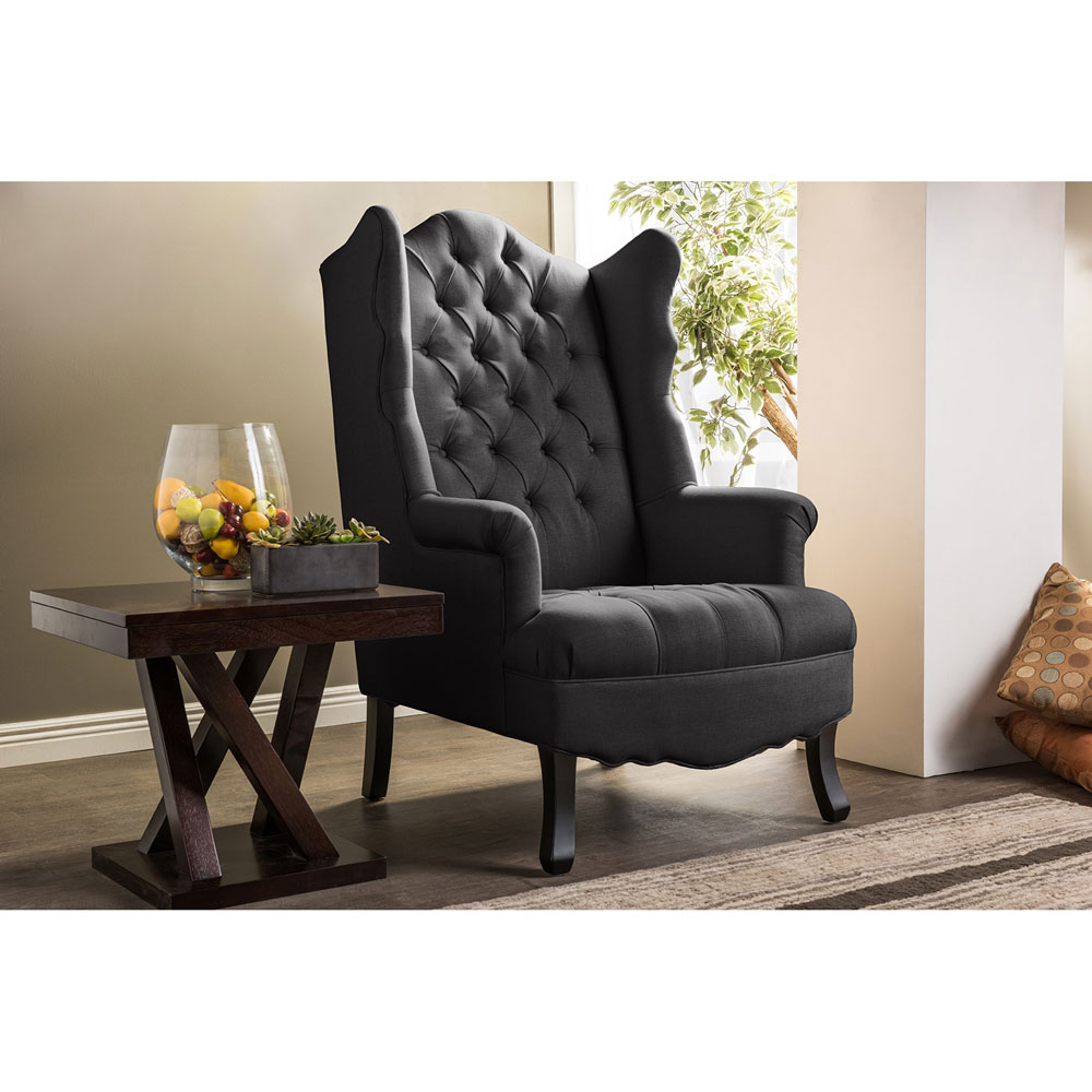 queen sofa armchair dark gray 5