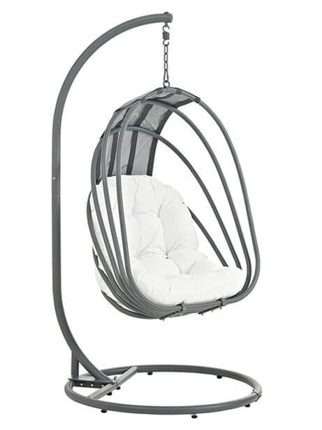 quest nest swing chair white
