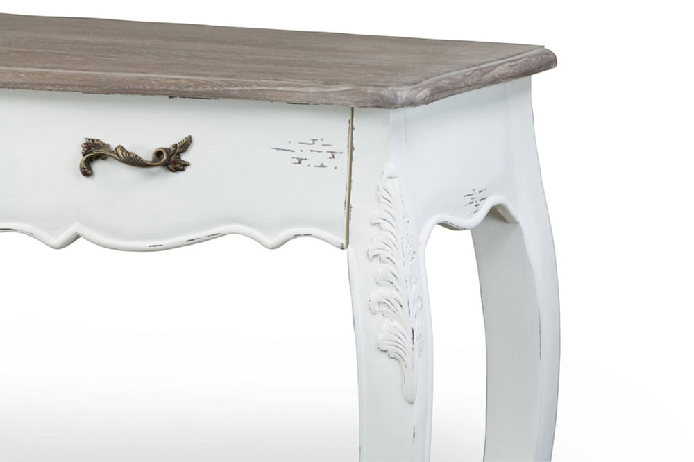 scallop console table 2