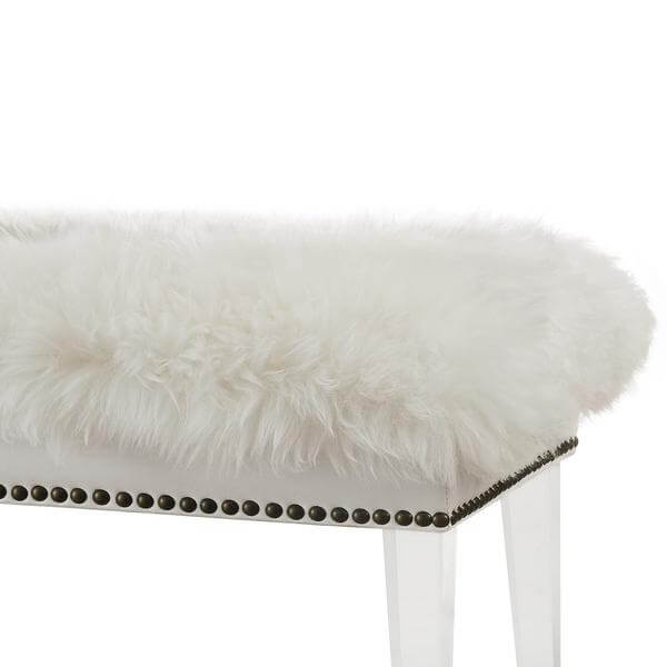 sheepskin puff bench 4