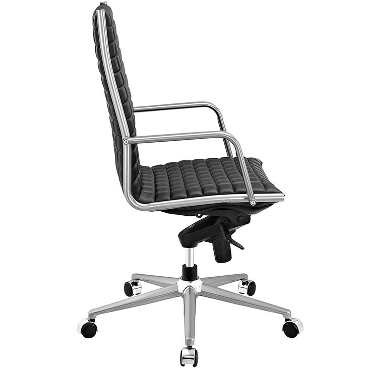 stock high back office chair black 1