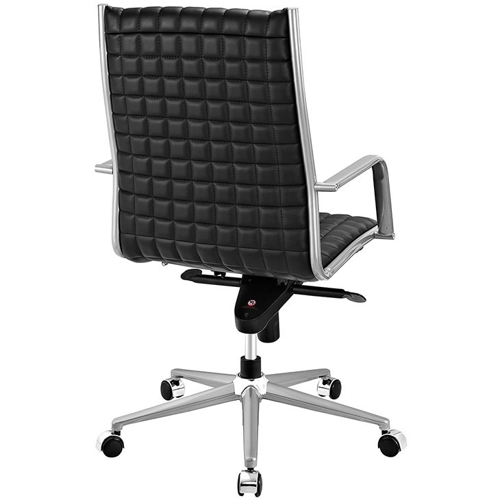 stock high back office chair black 2