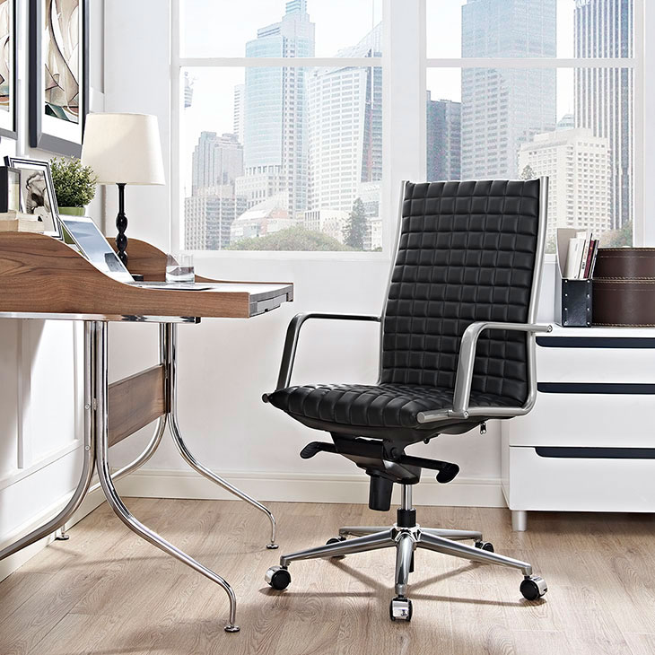 stock high back office chair black 3